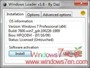 Windows7 Loader V1.8.0 By Daz