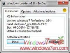 Windows7 Loader V1.8.0 By Daz 最新激活利