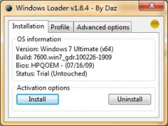 Windows7 Loader V1.8.4 By Daz Win7激