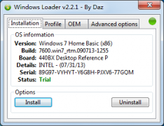 Win7旗舰版激活工具windows loader v2.3.1 中文
