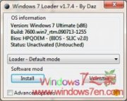 Windows 7 Loader V1.7.5 Win7旗