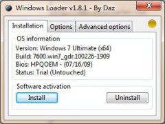 Windows7 Loader V1.8.1 By Daz Win7激活利器