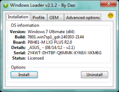 Windows7 Loader V2.1.2 By Daz 最新激活利器
