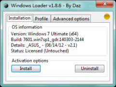 Win7 Loader 1.8.6下载 Windows7旗舰版激活工具